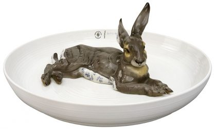 Nymphenburg Porcelain Bowl with Hare