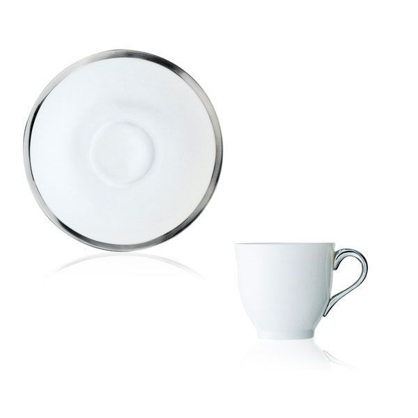 Puiforcat Cercle d'Argent Coffee Cup and Saucer