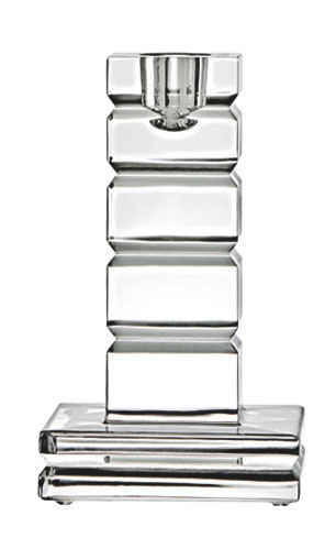Saint Louis Crystal Adiante Small Square Candlestick