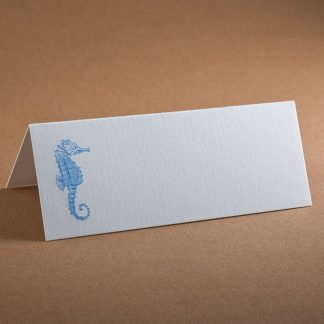 The Printery Seahorse Place Cards