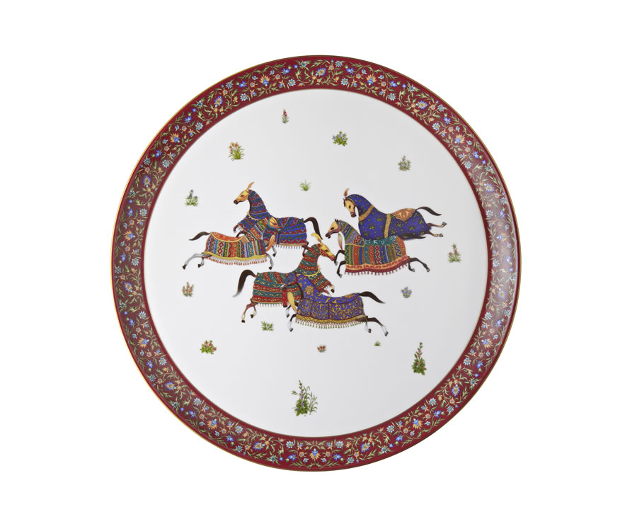 Hermes Cheval d'Orient Large Round Tray