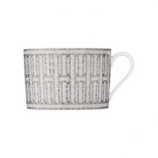 Hermes Mosaique au 24 Platinum Breakfast Cup and Saucer