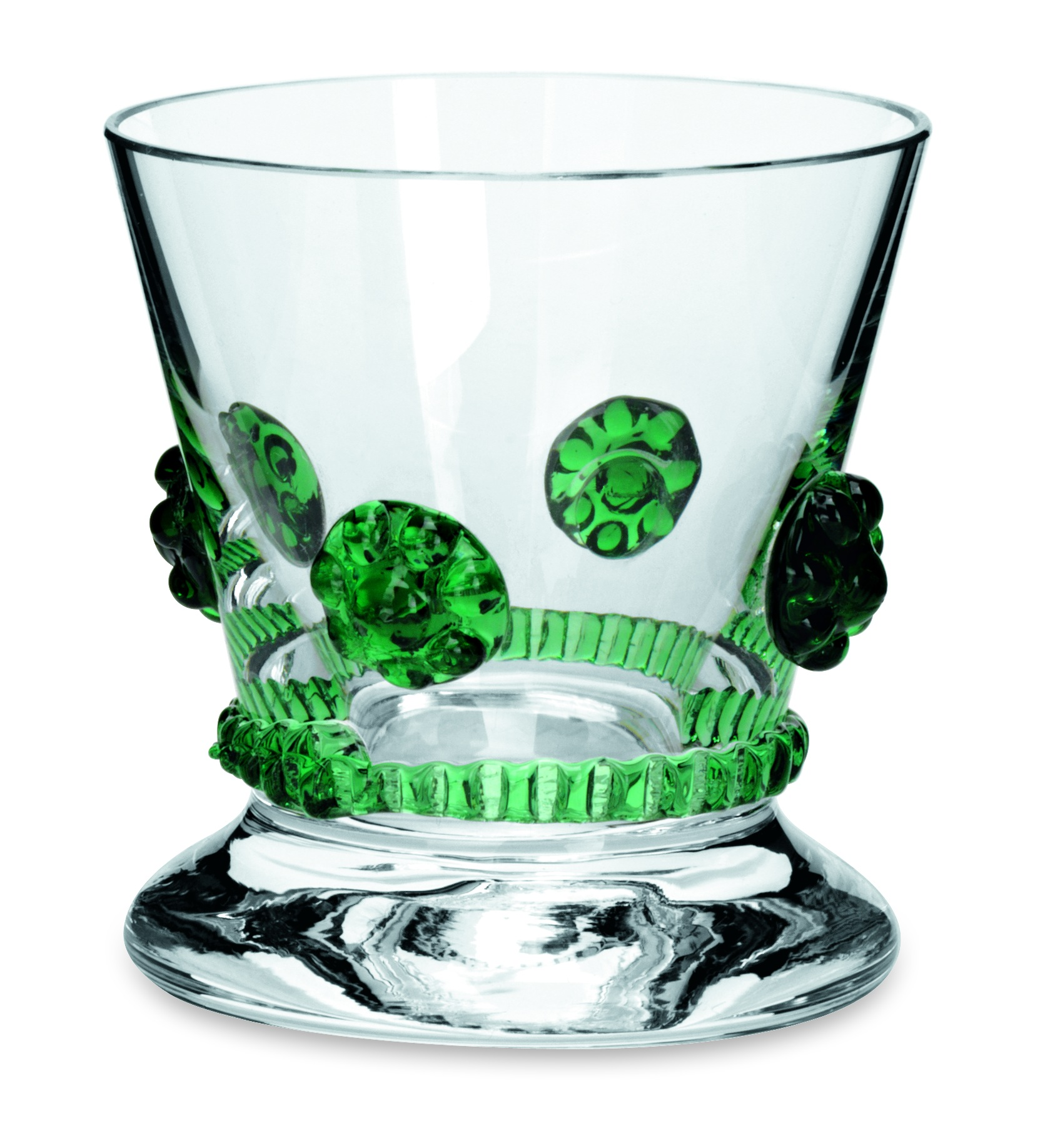 Theresienthal Bacchus Cordial Glass Dark Green
