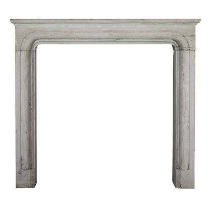 A Louis XIV Style Limestone Fireplace Surround