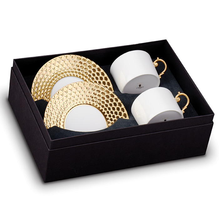 L'Objet Aegean Gold Tea Cup and Saucer