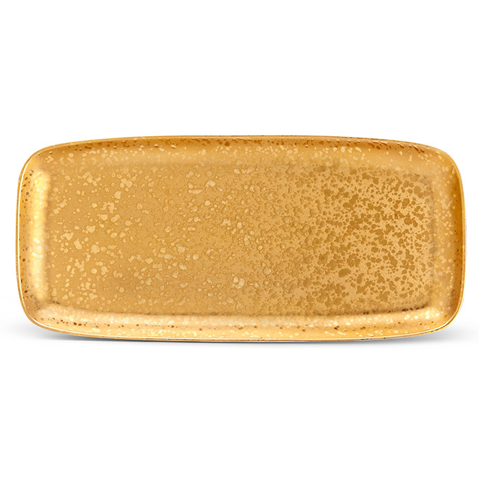 L'Objet Alchimie Gold Rectangular Platter Medium