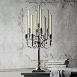 Robbe & Berking Empire Sterling Silver 9 Light Candelabra