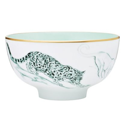 Hermes Carnets d'Equateur Felines Medium Bowl
