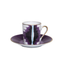 Marie Daage Kaleidoscope Espresso Cup and Saucer