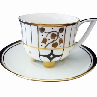 Augarten Deco Vienne Coffee Cup and Saucer