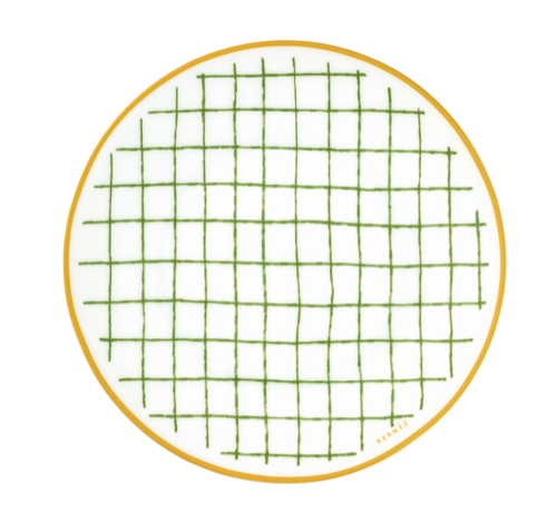 Hermes A Walk in the Garden Bread and Butter Plate Green