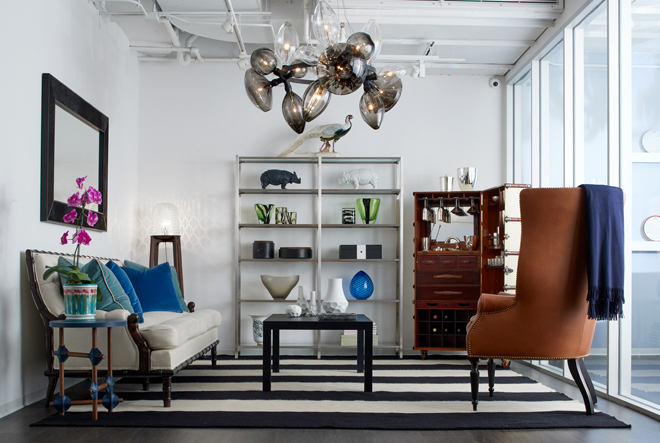 High-end furniture and home accessories at Kneen & Co. Showroom in Chicago