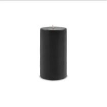 Pillar Candles Black Medium