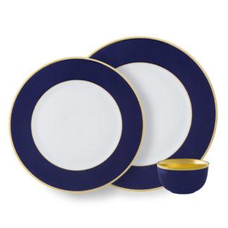 Augarten Schubert Dinnerware Cobalt Blue