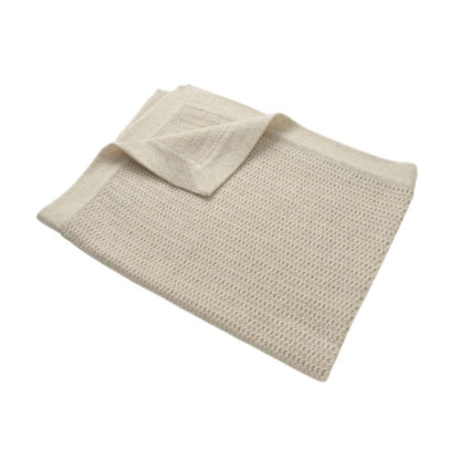 Masserano Tricot Lisa Baby Blanket Tan
