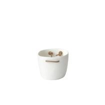 TF Design Barware Ice Bucket with Leather Handles White