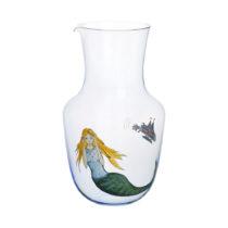 Lobmeyr High Seas Water Pitcher Light Blue - Angry Mermaid